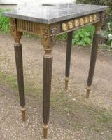 Small Marble Top Gilt Console Table